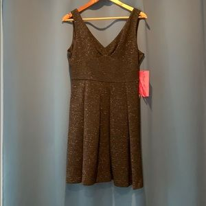 Betsy Johnson black sparkle bow dress size 12